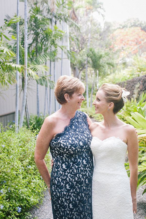Bride and Mother of the Bride at a Big Island wedding Hawaii destination wedding by Destination wedding planner Mango Muse Events creator of Passport to Joy