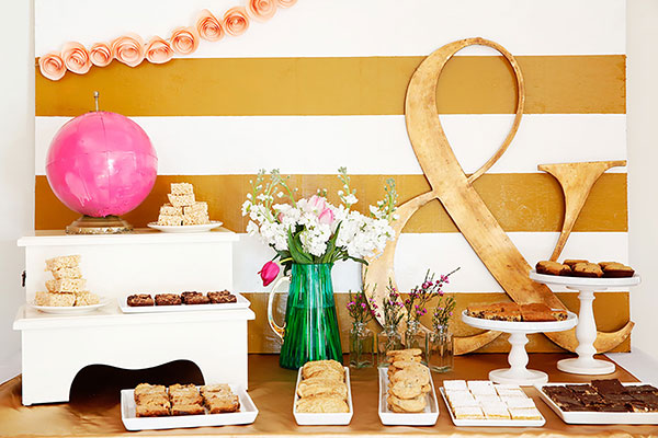 Wedding dessert bar created by Delish Designs for a San Francisco wedding