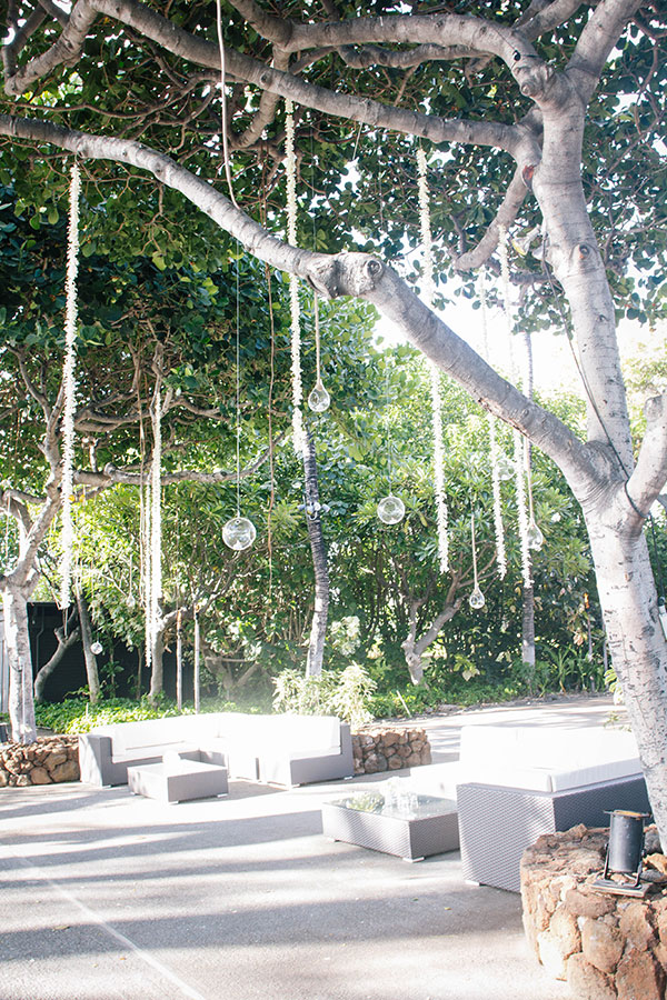 Lounge decor set up for an wedding on the Big Island at the Mauna Kea Resort in Hawaii by Destination wedding planner Mango Muse Events creator of Passport to Joy