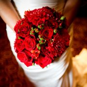 Red bridal wedding bouquet Valentine's day wedding inspiration by destination wedding planner Mango Muse Events creator of Passport to Joy