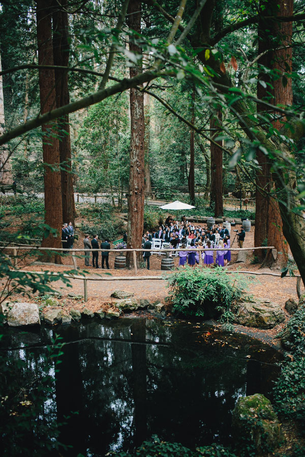 San Francisco wedding ceremony at Stern Grove amongst the redwoods planned by Destination wedding planner, Mango Muse Events creator of Passport to Joy