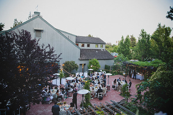 Beautiful outdoor wedding reception at the Los Altos History Museum by Destination wedding planner Mango Muse Events creator of Passport to Joy