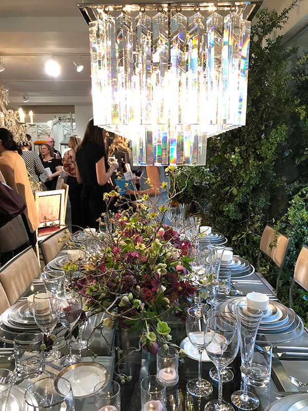 Floral centerpieces and rental decor at a wedding showcase in San Francisco by Destination wedding planner Mango Muse Events creator of Passport to Joy