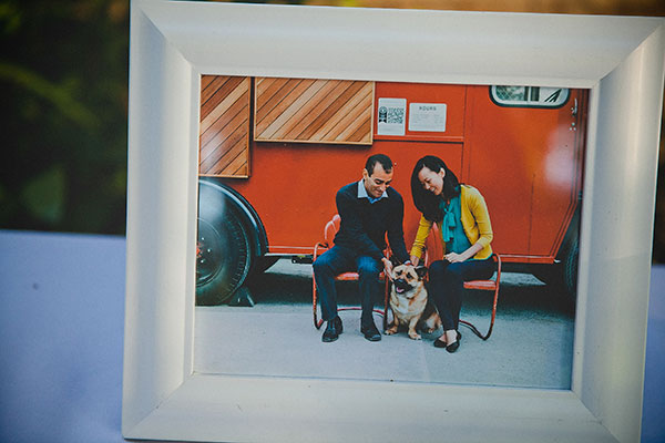 Photo of a couple and their dog as their guest book puzzle for a Bay Area wedding by Destination wedding planner Mango Muse Events creator of Passport to Joy