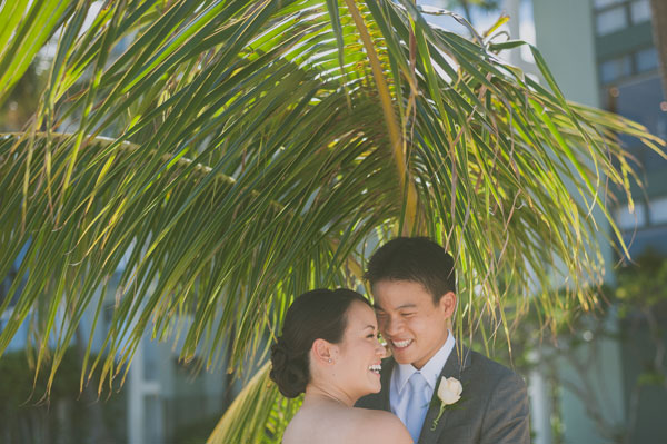 Bride and groom at their wedding in Hawaii by Destination wedding planner Mango Muse Events creator of Passport to Joy
