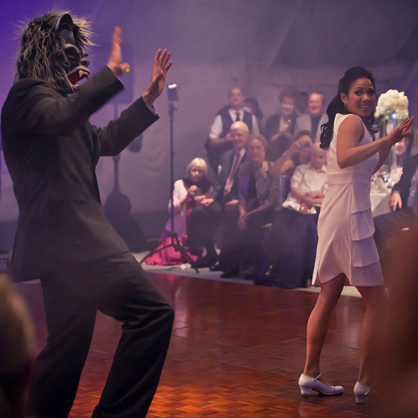 Thriller dance at a wedding reception