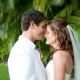 Bride and groom having a quiet moment at their wedding in Hawaii by destination wedding planner Mango Muse Events creator of Passport to Joy online wedding planning program