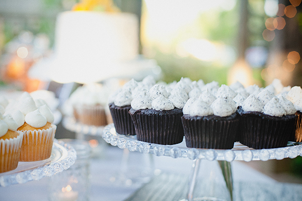 Cupcakes on a wedding dessert bar by destination wedding planner Mango Muse Events creator of Passport to Joy an online wedding planning course