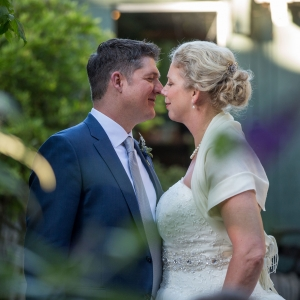 A happy moment shared between bride and groom at a second wedding by destination wedding planner Mango Muse Events creator of Passport to Joy the online wedding planning course for couples