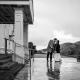 Couple bundled in coats at a winter wedding at the Marin Headlands Center for the Arts by destination wedding planner Mango Muse Events creator of Passport to Joy online wedding planning course for couples