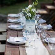 Rustic woodland wedding table with wildflowers for a russian river wedding by destination wedding planner Mango Muse Events creator of Passport to Joy the step by step online wedding planning program
