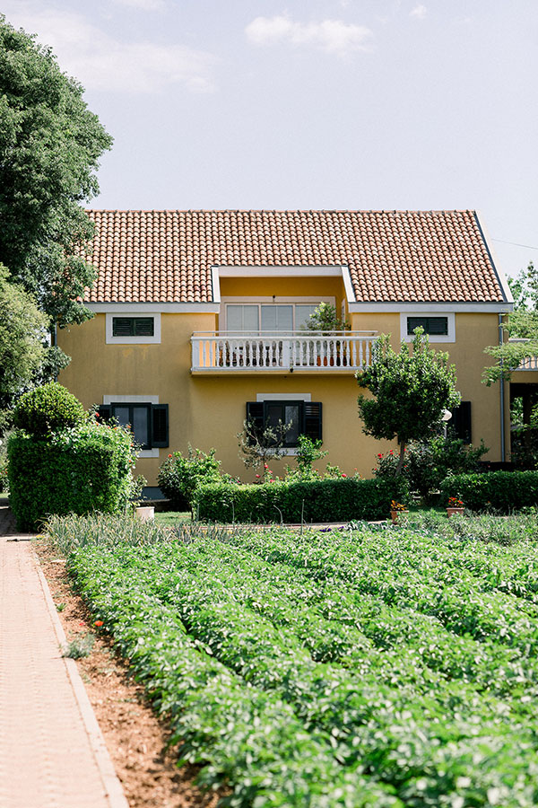 Yellow farmhouse and winery in the Zadar countryside in Croatia a wedding venue and honeymoon location by destination wedding planner Mango Muse Events creator of Passport to Joy, the online wedding planning course for couples