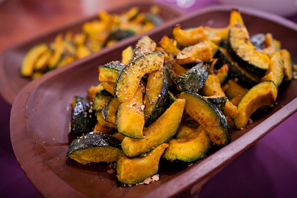 Roasted kabocha squash for a fall wedding meal idea by destination wedding planner Mango Muse Events creator of Passport to Joy online wedding planning course for couples