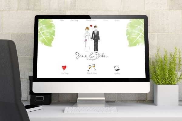 Wedding website electronic communication eco-friendly and budget friendly idea from Passport to Joy online wedding planners