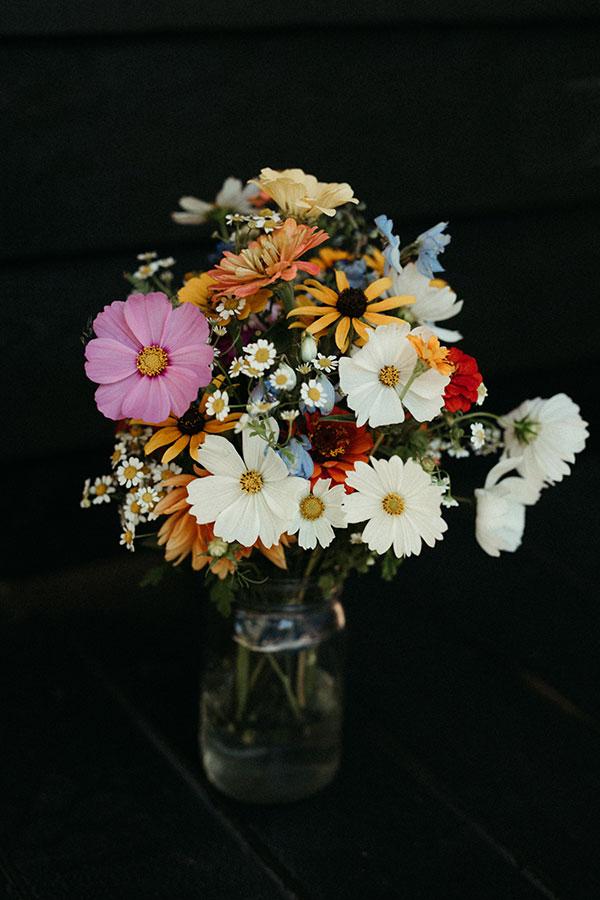 Locally grown wildflower wedding bouquet for a Yosemite destination wedding by destination wedding planner Mango Muse Events creator of Passport to Joy online wedding planners
